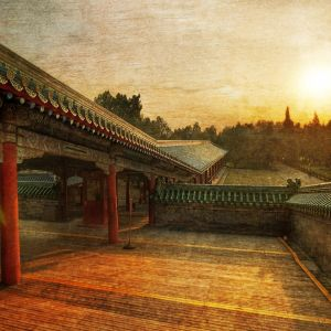 Galaxy S  Wallpaper HD Vintage Path To The Temple Of Heaven