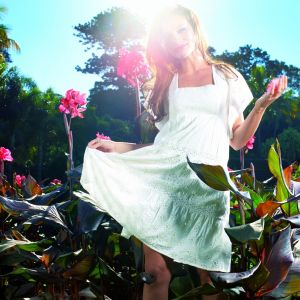 Galaxy S  Active HD Wallpaper Summer Girl In White Dress
