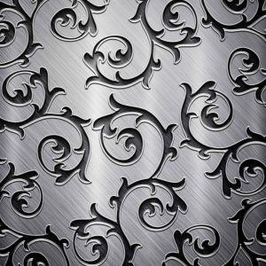 Swirly Metallic Pattern Abstract Mobile Wallpaper     X