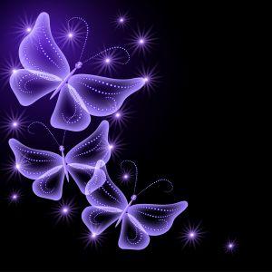 Neon Butterflies Abstract