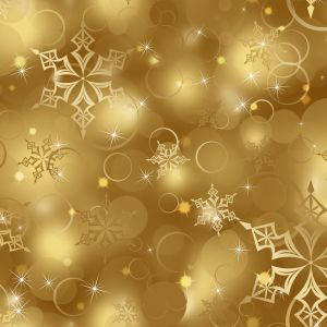 Golden Snowflake Pattern Digital Art Mobile Wallpaper     X