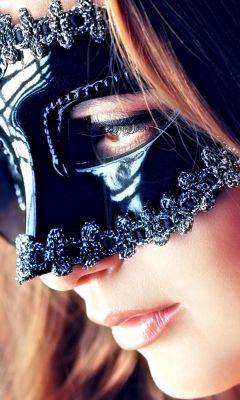 Beautiful Girl With Black Mask