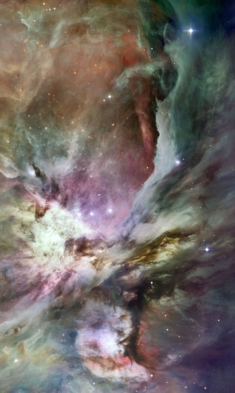 Beautiful Nebula Space Mobile Wallpaper     X