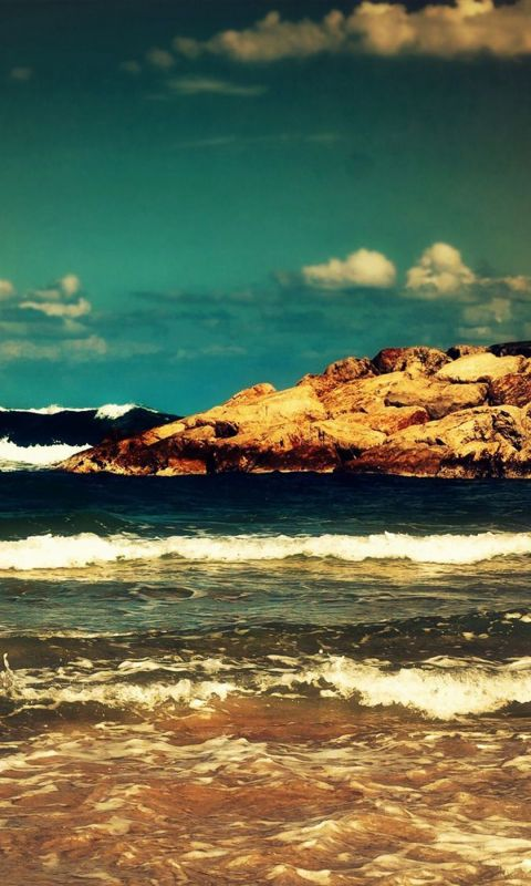 Beautiful Ocean Waves Free Wallpaper For LG G  Smartphone
