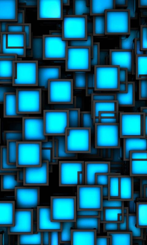 Wallpaper Iphone   Plus Square Blue Black     Inches