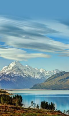 South Island New Zealand Nature Mobile Wallpaper     X