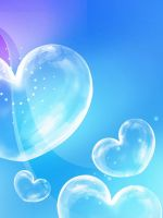 blue bubble hearts