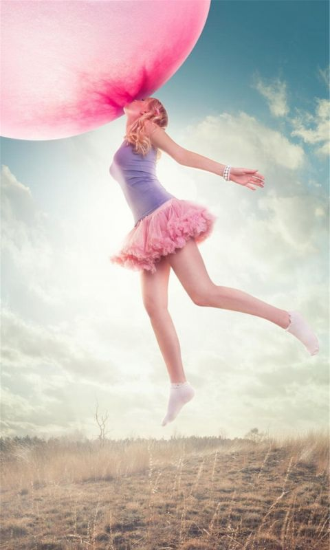 Pink Balloon girl