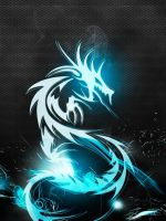 Wallpaper Full Hd      X      Smartphone Dragon Blue Abstract