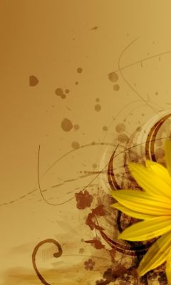 Yellow Flower Abstract Wallpapers           X