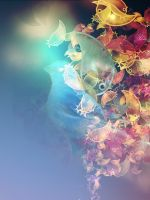 Birds  Flowers Abstract Wallpapers           X