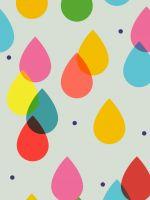 Cartoon Colorful Rain Drops Iphone   Wallpaper Ilikewallpaper Com