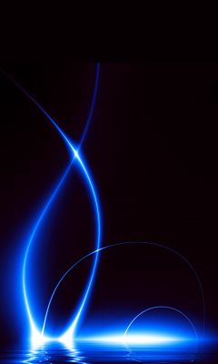 Blue Lights Galaxy S  Wallpaper     X