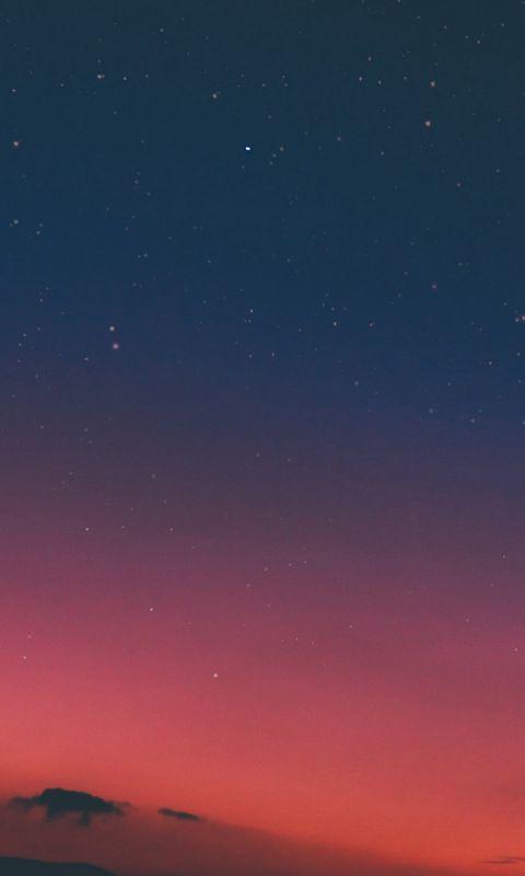 Night Sky Sunset Pink Nature wallpaper