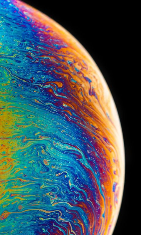 multicolored planet fluid painting wallpaper