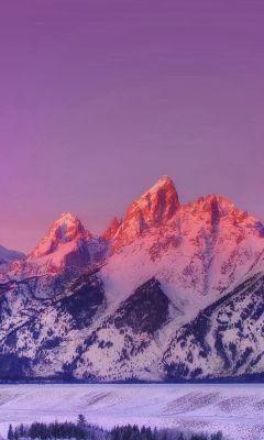 Mountain Sunset Nature Awesome Sky wallpaper
