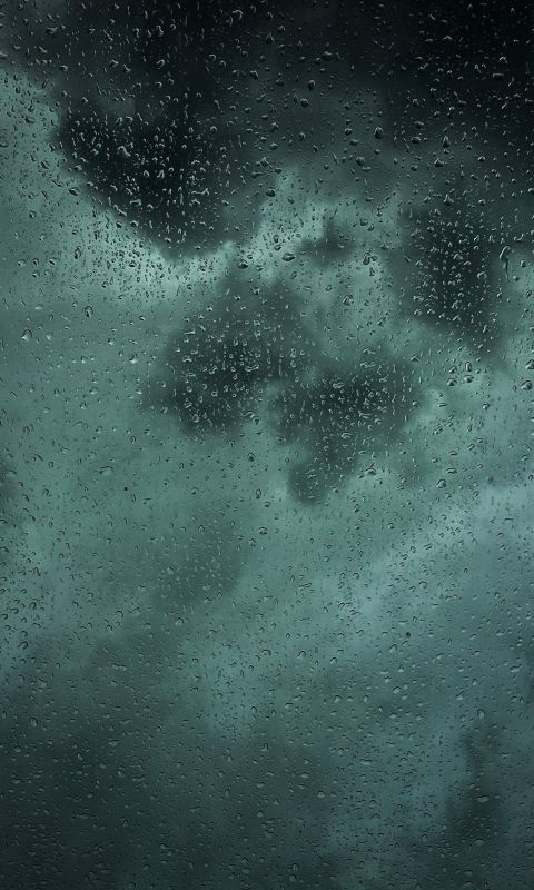 dew drops on glass panel wallpaper