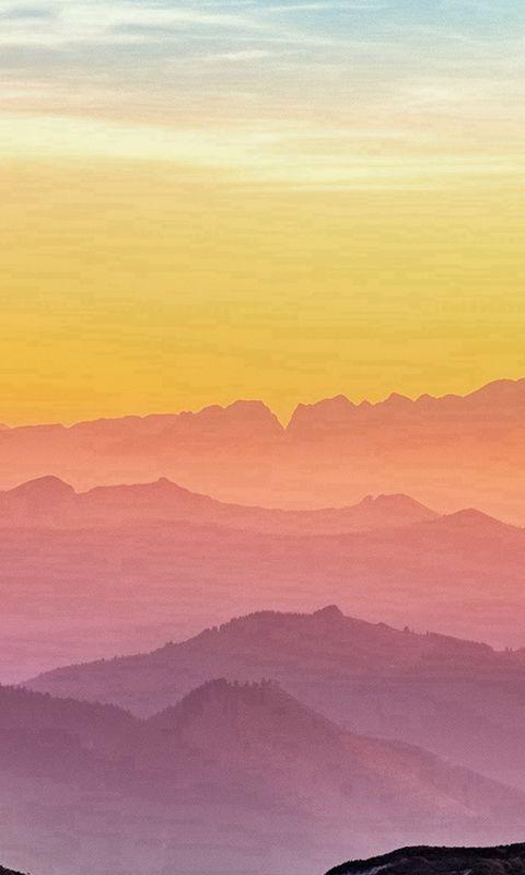 Rainbow Mountain Color Nature wallpaper