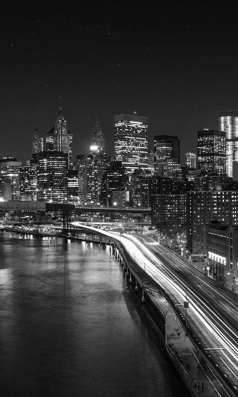 Night city view lights wallpaper