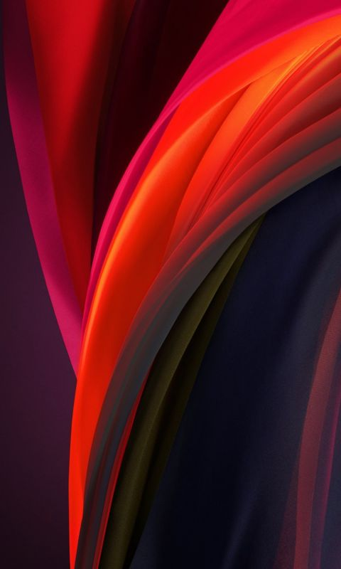 iphone se 2020 stock wallpaper Silk Purple Dark wallpaper