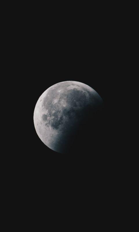 round white moon wallpaper