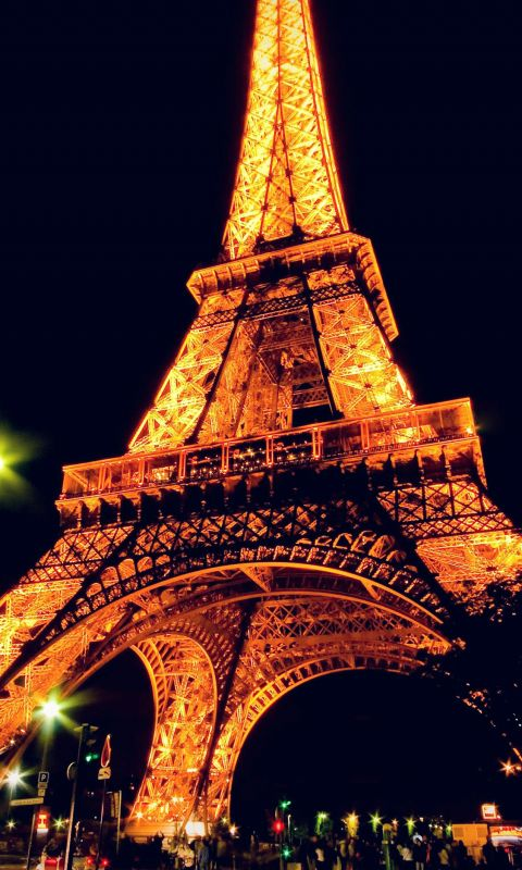 Eiffel Tower Paris Night Art Illustration wallpaper