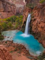 time lapse photography of waterfalls at daytime wallpaper