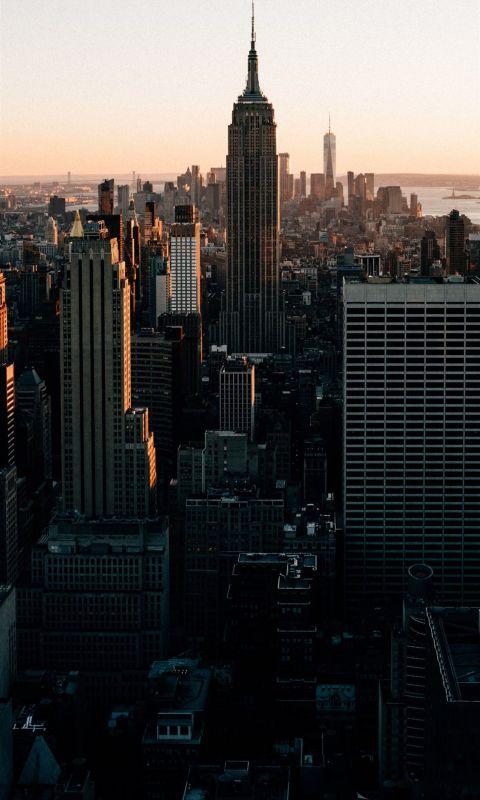 aerial view of buildings wallpaper