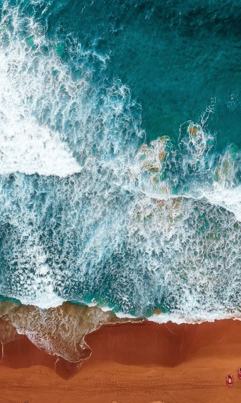 aerial photography of beach wallpaper