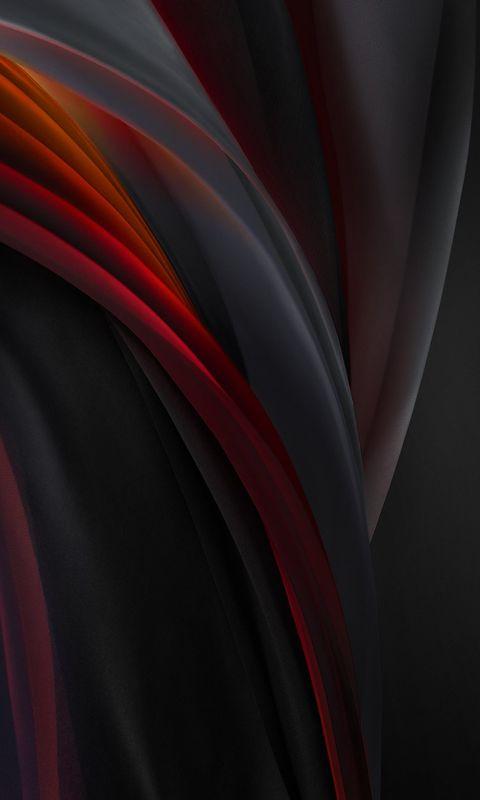 iphone se 2020 stock wallpaper Silk Red Mono Dark wallpaper