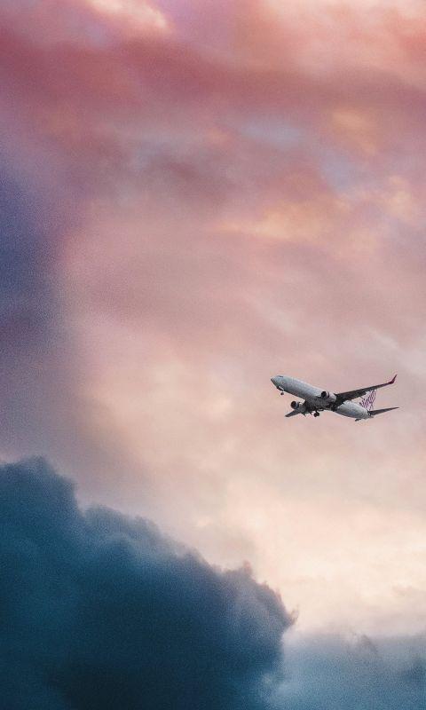Cloud plane fly sky wallpaper