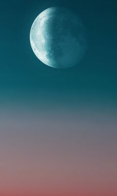 full moon during day wallpaper