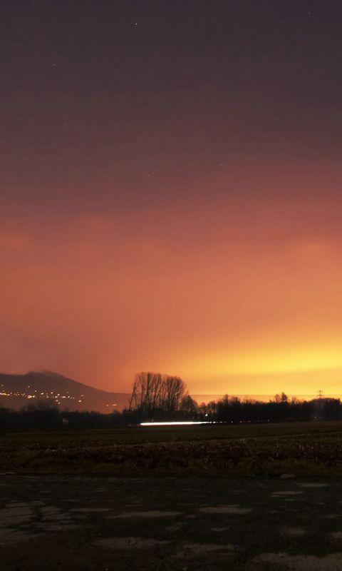 Dawn Nature Sky Sunset Mountain Red Dark wallpaper