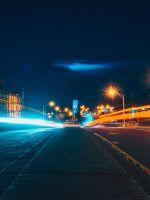 Street light night city wallpaper