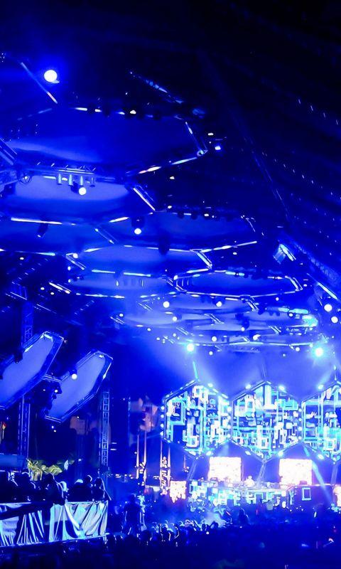 Club Blue Night Music wallpaper