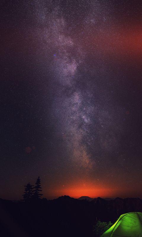 Camping night star wallpaper