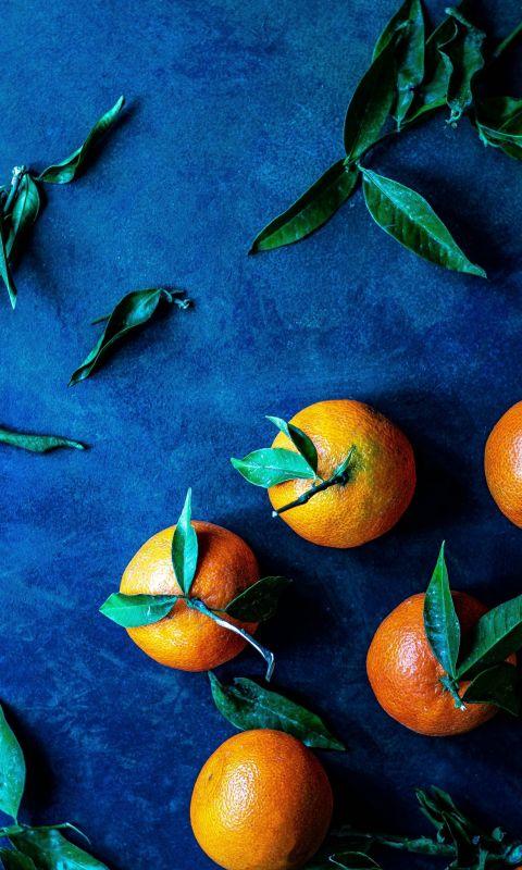 bunch of orange fruit wallpaper