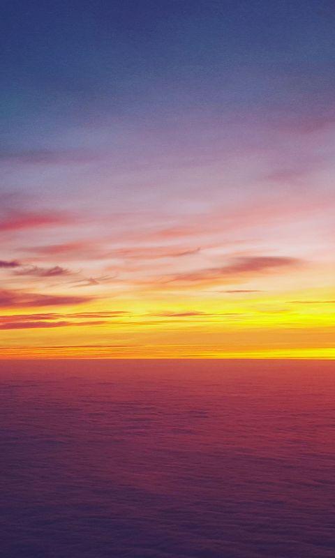 Sea Ocean Skyline Sunset Sky Nature wallpaper