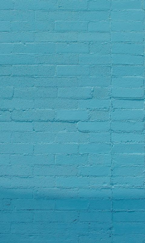 blue wall bricks wallpaper