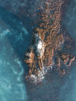 aerial photo of islet wallpaper
