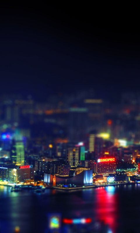 Hongkong city night wallpaper