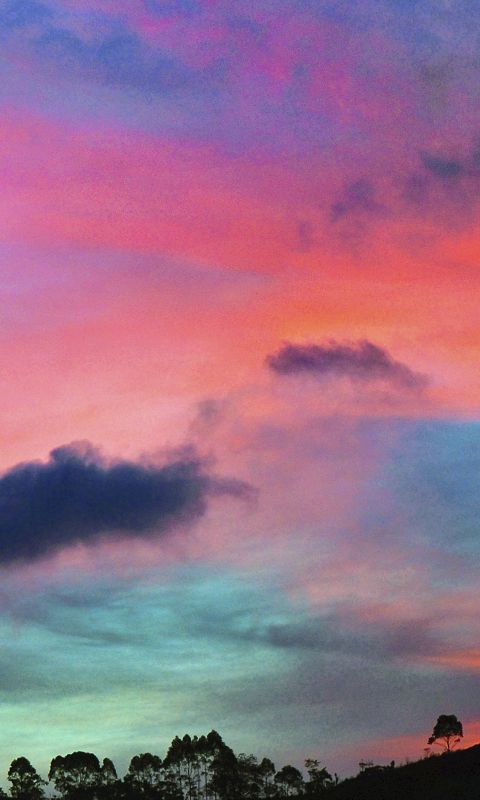 Sky rainbow cloud sunset wallpaper