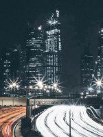 City Car Night View Dark Nature wallpaper