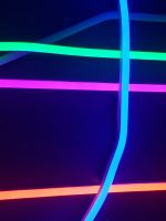 assorted color neon lights wallpaper