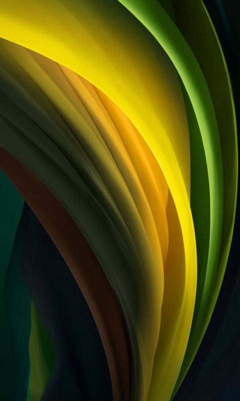 iphone se 2020 stock wallpaper Silk Green Dark wallpaper