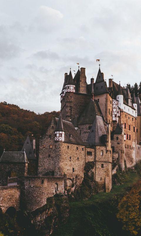 brown castle wallpaper