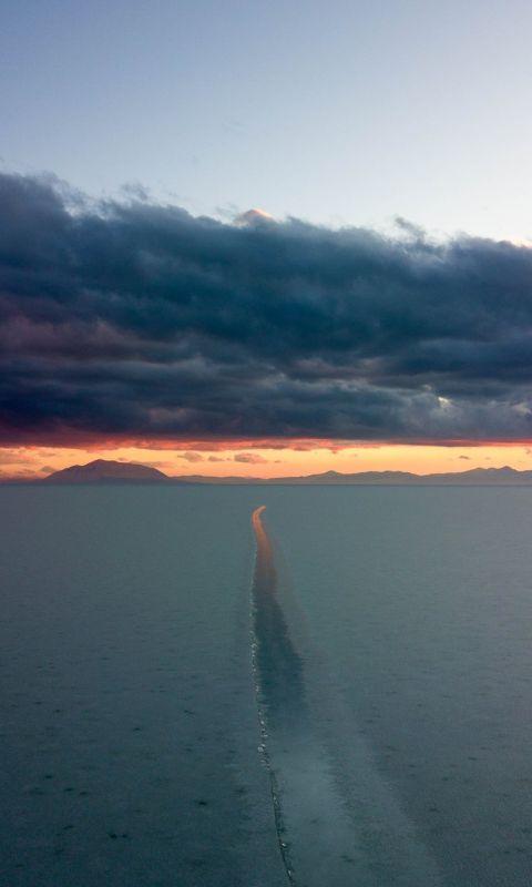 ocean during sunset wallpaper