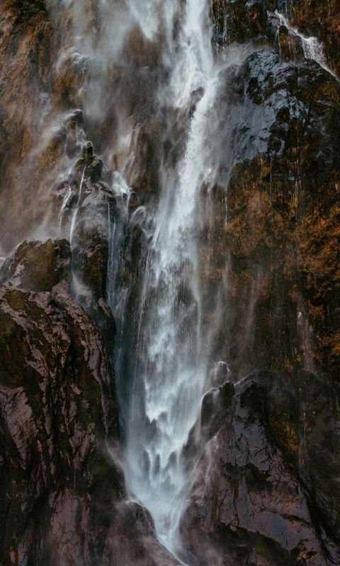 photography of raging waterfalls wallpaper
