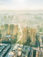 aerial photography of city buildings wallpaper