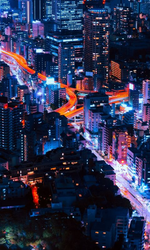 timelapse photography of vehicles and buildings wallpaper